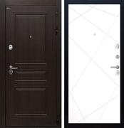 Входная стальная дверь Интекрон Брайтон Лучи-М (Тиковое дерево / Софт Милк)