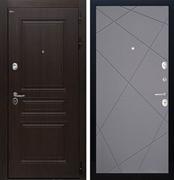 Входная стальная дверь Интекрон Брайтон Лучи-М (Тиковое дерево / Софт Графит)