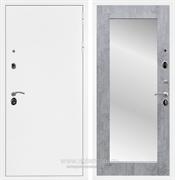 Входная металлическая дверь Армада 5А с зеркалом Пастораль (Белая шагрень / Бетон тёмный)