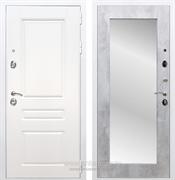 Входная металлическая дверь Армада Премиум Н Зеркало Пастораль (Белый / Бетон светлый)
