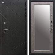 Входная металлическая дверь Ратибор Эстет 3К Зеркало (Штукатурка Графит / Бетон светлый)