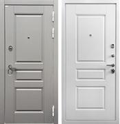 Входная металлическая дверь Ратибор Лондон 3К (Грей софт / Белый матовый)
