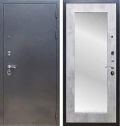 Входная стальная дверь Армада 11 с Зеркалом Пастораль (Антик серебро / Бетон светлый)