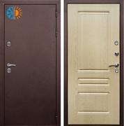 Уличная входная дверь с терморазрывом Армада Термо 3К (Антик медь / Алмон 25)