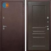 Уличная входная дверь с терморазрывом Армада Термо 3К (Антик медь / Алмон 28)