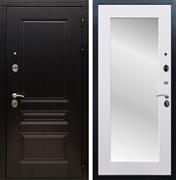 Входная металлическая дверь Армада 17 Мегаполис с Зеркалом Пастораль (Венге / Белый матовый)