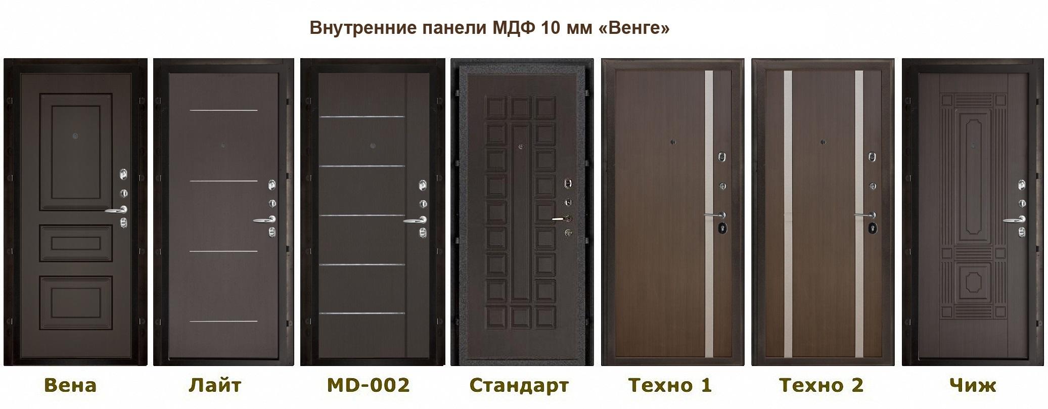 входная внутренняя дверь венге